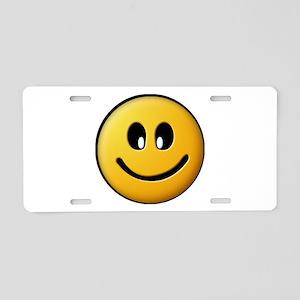 Happy Smiley Aluminum License Plate