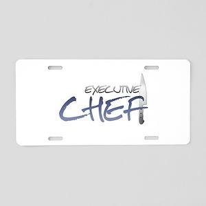Blue Executive Chef Aluminum License Plate