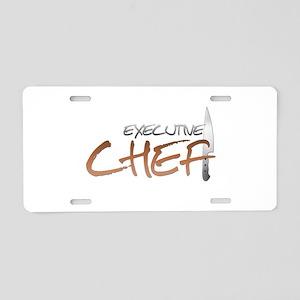 Orange Executive Chef Aluminum License Plate