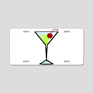Green Apple Martini Aluminum License Plate