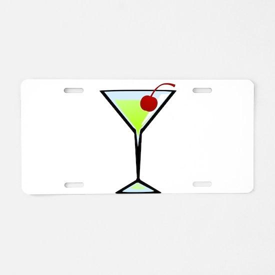 Green Apple Martini Aluminum License Plate