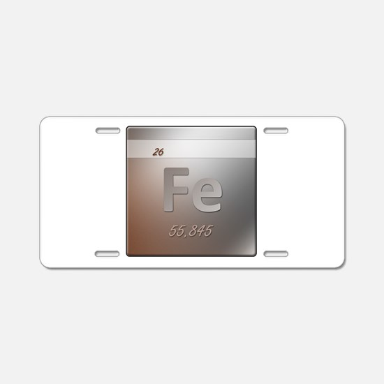 Iron (Fe) Aluminum License Plate