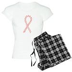 Red Paw Ribbon Women's Light Pajamas