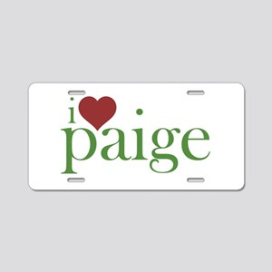 I Heart Paige Aluminum License Plate
