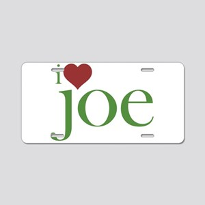 I Heart Joe Aluminum License Plate