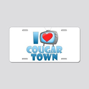 I Heart Cougar Town Aluminum License Plate