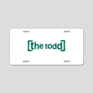 The Todd Aluminum License Plate