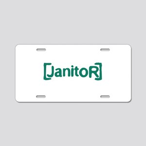 Scrubs Janitor Aluminum License Plate