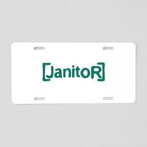 Scrubs Janitor Aluminum License Plate