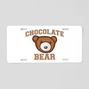 Chocolate Bear Aluminum License Plate