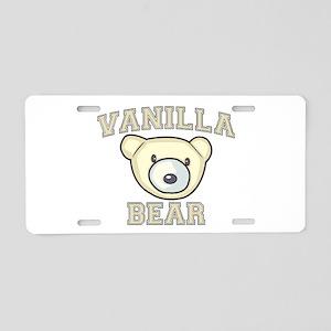 Vanilla Bear Aluminum License Plate