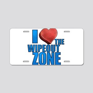 I Heart the Wipeout Zone Aluminum License Plate