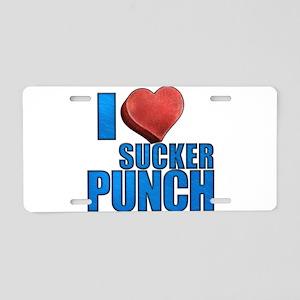 I Heart Sucker Punch Aluminum License Plate