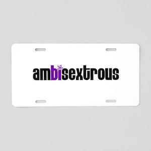 Ambisextrous Aluminum License Plate