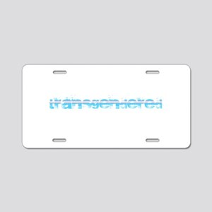 Grungy Transgendered Aluminum License Plate
