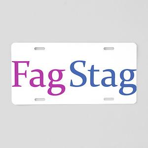Fag Stag Aluminum License Plate