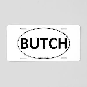 BUTCH Euro Oval Aluminum License Plate