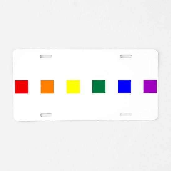 Rainbow Pride Squares Aluminum License Plate