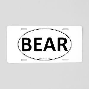 BEAR Euro Oval Aluminum License Plate