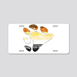 Bear Pride Claw Aluminum License Plate