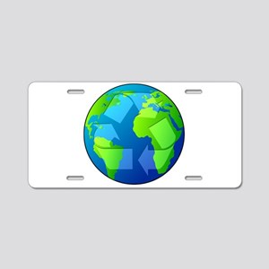 Planet Earth - Recycle Aluminum License Plate