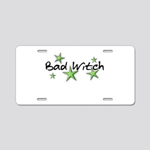 Bad Witch Aluminum License Plate