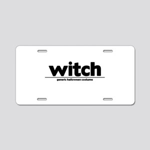Generic witch Costume Aluminum License Plate
