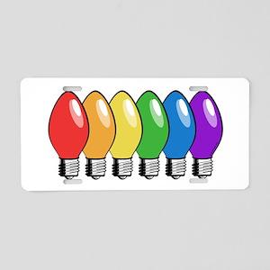 Rainbow Christmas Tree Lights Aluminum License Pla