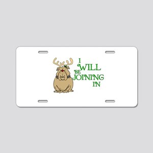 Red-Nosed Bull Dog Aluminum License Plate