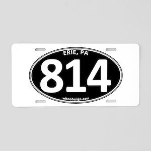 Black Erie, PA 814 Aluminum License Plate