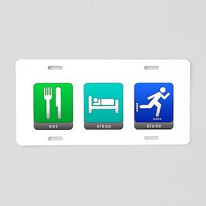 Eat, Sleep, Blade Aluminum License Plate
