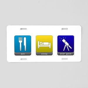 Eat, Sleep, Stargaze Aluminum License Plate