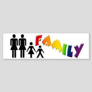 Lesbian Pride Family Bumper Sticker
