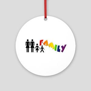 Lesbian Pride Family Ornament (Round)