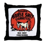 Horse Shit Cigarettes Throw Pillow