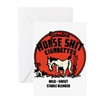Horse Shit Cigarettes Greeting Cards (Pk of 10)