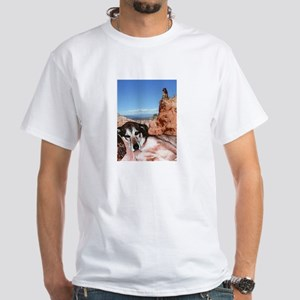 Doberman Shepherd Mix White T-Shirt