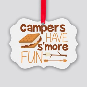 Campers Have S'more Fun Picture Ornament