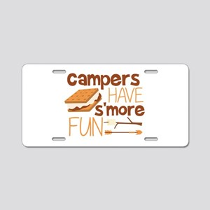 Campers Have S'more Fun Aluminum License Plate
