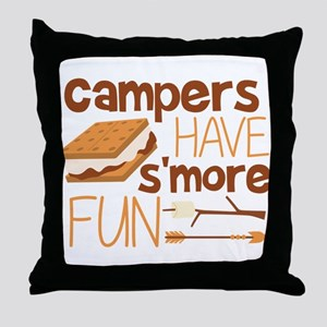 Campers Have S'more Fun Throw Pillow