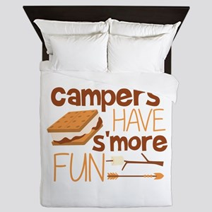 Campers Have S'more Fun Queen Duvet