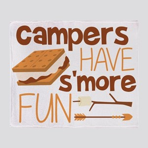Campers Have S'more Fun Throw Blanket