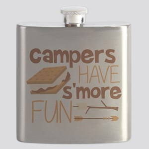 Campers Have S'more Fun Flask