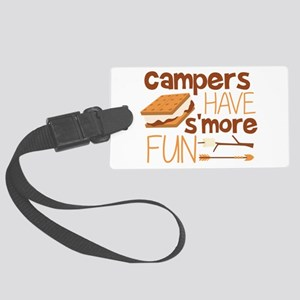 Campers Have S'more Fun Large Luggage Tag