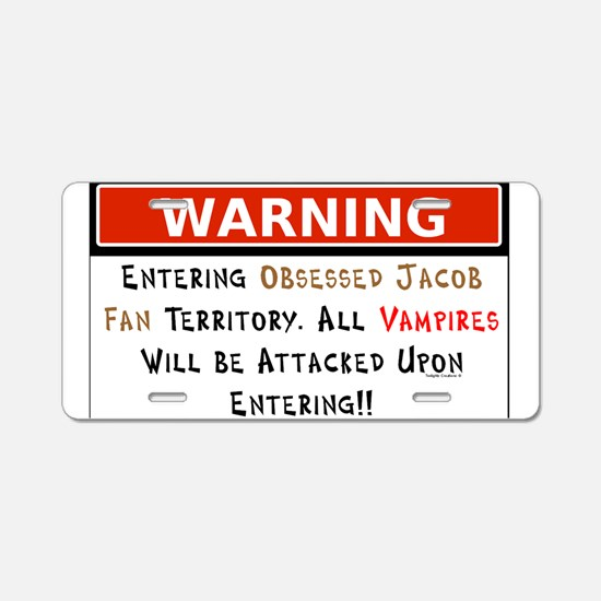 Warning Vampires Attacked Aluminum License Plate