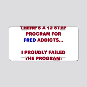 12 Step Fred Program Aluminum License Plate