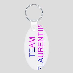 Team Flaurentiis Aluminum Oval Keychain