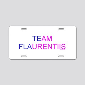 Team Flaurentiis Aluminum License Plate