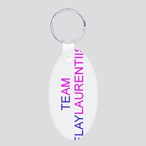 Team Flaylaurentiis Aluminum Oval Keychain