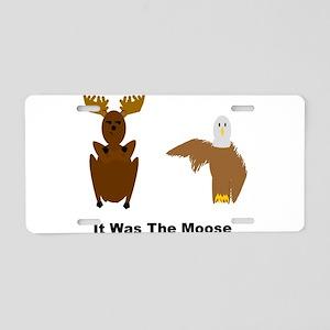 Eagle Blames Moose Aluminum License Plate